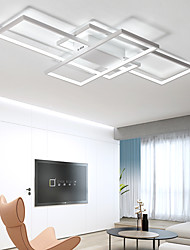 cheap -105cm LED 3-Light Linear Flush Mount Light Aluminum Geometric Modeling Pattern 70W Painted Finishes Includes Dimmable With Remote Control Version Warm White Version White Version