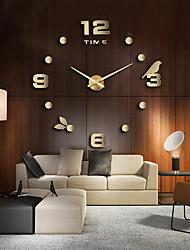 Недорогие -Современный современный Нержавеющая сталь нерегулярный В помещении Батарея Украшение Настенные часы Сталь Нет