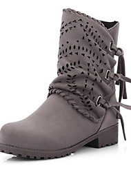 cheap -Women's Boots Flat Heel Round Toe Suede Mid-Calf Boots Fall & Winter Black / Brown / Army Green