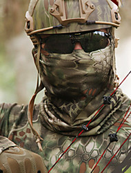 cheap -Men's Neck Gaiter Neck Tube Outdoor Windproof Quick Dry Breathable Stretchy Fall Winter Spring Camo Hunting Fishing Cycling / Bike Jungle camouflage Camouflage Black / Athleisure