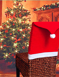 cheap -Hort Santa Claus Hat Chair Covers Christmas Dinner Table Party Christmas
