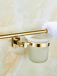 cheap -Toilet Brush Holder Creative / Multifunction Contemporary Brass 1pc Wall Mounted