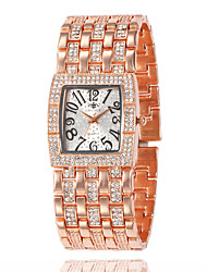 cheap -New Stainless Steel Chain Fashion Gold Watch Women Wristwatches Quartz Watches montre femme acier inoxydable Square Watch