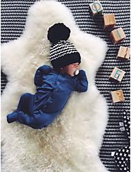 Χαμηλού Κόστους -Μωρό Αγορίστικα Ενεργό Μπλε Μονόχρωμο Μακρυμάνικο Ένα Κομμάτι Θαλασσί