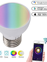 cheap -App Remote Control Intelligent GU10 Lamp Cup Wireless WiFi Colorful LED Bulb Alexa Voice Light
