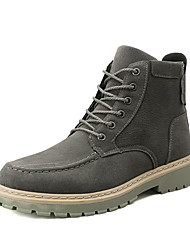 cheap -Men's Combat Boots PU Fall Casual Boots Non-slipping Mid-Calf Boots Black / Brown / Gray