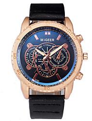 cheap -Men's Sport Watch Quartz Leather Black / Green / Chocolate No Chronograph Cute Creative Analog New Arrival Fashion - Black Golden Golden+Black One Year Battery Life