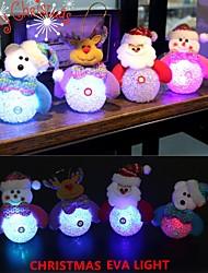 cheap -Xmas Ornaments Glowing Santa Claus Snowman LED Night light Christmas Reindeer Pendant Christmas Tree Decor Door Wall Pendant