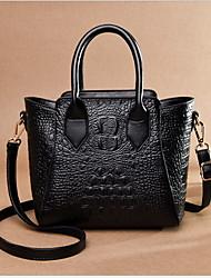 Χαμηλού Κόστους -Γυναικεία PU Τσάντα χειρός Κροκοδιλέ Μαύρο / Κρασί / Βυσσινί