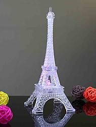 abordables -Eiffel Tower Eclairage LED Transparente Coloré Plastique Polycarbonate Enfant Garçon Fille Jouet Cadeau