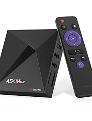 Недорогие -A5X Max Android 9.0 Smart TV Box четырехъядерный 4 ГБ 32 ГБ 4 К Wi-Fi Bluetooth 4.0 Google Netflix YouTube Media Player