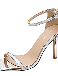 cheap -Women's Sandals Stiletto Heel Round Toe Patent Leather Sweet Spring &  Fall / Summer Black / Nude / White
