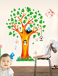 cheap -AY9125 cartoon small animal wall sticker big tree animal house children's room decoration removable wall sticker