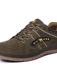 cheap -Men's Suede Shoes Suede Fall Athletic Shoes Hiking Shoes Dark Green / Orange / Khaki