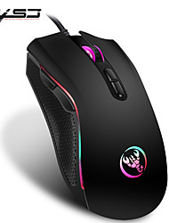 cheap -HXSJ A869 Wired USB Optical Gaming Mouse / Office Mouse Multi-colors Backlit 3200 dpi 4 Adjustable DPI Levels 7 pcs Keys