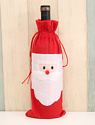 cheap -Christmas Decorations Santa Claus Red Wine Bottle Bag Holiday Decoration