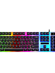 cheap -G21 USB Wired Gaming Keyboard Office Keyboard Novelty Gaming Monochromatic Backlit 104 pcs Keys