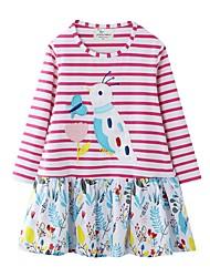 cheap -Kids Girls' Striped Dress Blushing Pink