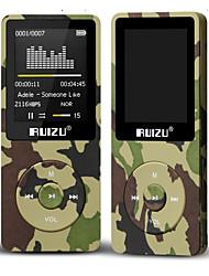 Недорогие -hodieng ruizu x02 ультратонкий mp3-плеер usb 16 ГБ 32 ГБ 64 ГБ для хранения 1,8-дюймовый экран воспроизведения 80h высококачественное радио FM электронная книга музыкальный плеер
