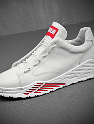 cheap -Men's Comfort Shoes Leather Summer Athletic Shoes Running Shoes White