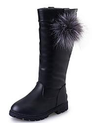 halpa -Tyttöjen Comfort PU Bootsit Suuret lapset (7 vuotta +) Musta / Burgundi / Punainen Syksy / Säärisaappaat