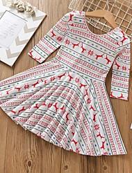 cheap -Kids Girls' Christmas Dress White