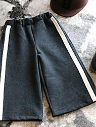 cheap -Toddler Girls' Color Block Pants Black