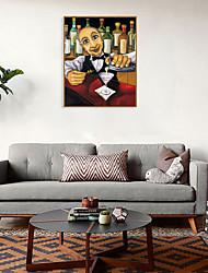 cheap -Framed Art Print Framed Set - People Cartoon PS Oil Painting Wall Art