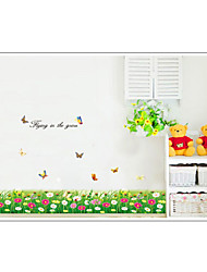 cheap -AY7049 fresh butterfly flower baseboard sticker bedroom living room bathroom decoration sticker