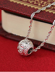 cheap -Women's Pendant Necklace Charm Necklace Classic Precious Unique Design Fashion Copper Silver Plated Silver 45 cm Necklace Jewelry 1pc For Daily Street Work