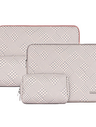 cheap -13.3 Inch Laptop / 14 Inch Laptop / 15.6 Inch Laptop Sleeve PU Leather Houndstooth / Leather for Business Office for Colleages & Schools for Travel Water Proof Shock Proof