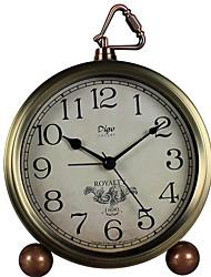 Недорогие -Будильник Аналоговый Нержавеющая сталь Автоматические часы с ручным заводом 1 pcs
