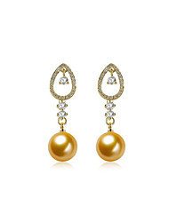 cheap -Women's Drop Earrings Geometrical Flower Stylish Imitation Pearl Gold Plated Earrings Jewelry Gold For Party Daily 1 Pair