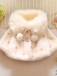 abordables -bébé Fille Chinoiserie Imprimé Bordure en Fourrure / Lacet Normal Rembourré Coton Blanche