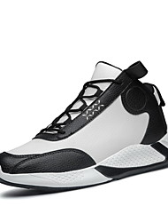 cheap -Men's Comfort Shoes PU Spring & Summer / Fall & Winter Sporty Athletic Shoes Running Shoes Non-slipping Black / Brown / Black and White