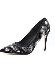 cheap -Women's Heels Stiletto Heel Pointed Toe Beading Synthetics Minimalism Spring & Summer Black / Green / Red / Party & Evening