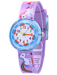 cheap -Kids Sport Watch Quartz Animal Pattern Silicone White / Blue / Red No Chronograph Cute New Design Analog New Arrival Fashion - Light Blue White / Blue White / Pink One Year Battery Life