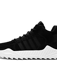 cheap -Men's Leather Shoes Leather / Pigskin Spring / Fall & Winter Sporty / Casual Athletic Shoes Running Shoes / Walking Shoes Warm Booties / Ankle Boots Black / Brown / Gray