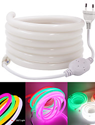 cheap -5m Round Neon Flexible LED Light Strips 600 LEDs EL 14mm Warm White White Red Waterproof Cuttable Advertising Fonts Advertising Signboard DIY Party 220 V 1 set