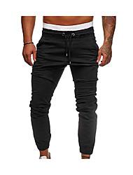 abordables -Homme Pantalons de Course Running Pantalon de survêtement Pantalon de sport Pied de faisceau Coton Des sports Hiver Pantalons / Surpantalons Fitness Entraînement de gym Contrôle du Ventre Couleur