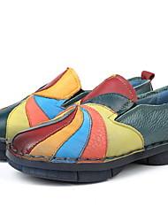 cheap -Women's Flats Flat Heel Round Toe PU Winter Yellow