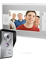 cheap -MOUNTAINONE SY812MKW11 Wired Built in out Speaker 7 inch Hands-free One to One video doorphone
