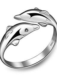 cheap -Women's Ring 1pc Silver Platinum Plated Alloy Stylish Daily Jewelry Cute