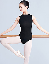 cheap -Ballet Leotard / Onesie Split Joint Women's Training Performance Sleeveless Natural Polyester / Cotton Mesh