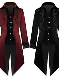 abordables -Docteur de la peste Rétro Vintage Steampunk Manteau Bal Masqué Homme Coton Costume Noir / Rouge Vintage Cosplay Soirée Halloween Manches Longues