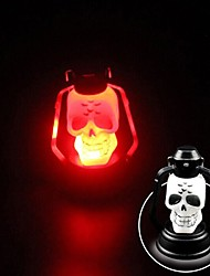 cheap -YWXLight®  1Watts New Halloween Lamp Portable Hanging Lamp Scary Horror Colorful Flash Skull Grimace LED Lantern Lighter Halloween Decorations(1PCS)