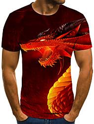 baratos -Homens Camiseta 3D / Arco-Íris Vermelho