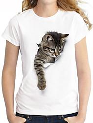 cheap -Women's Daily T-shirt - Cartoon White