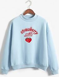 cheap -Women's Casual Sweatshirt - Print White S