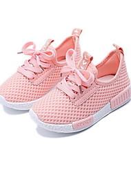 رخيصةأون -للفتيات مريح شبكة أحذية رياضية الأطفال الصغار (4-7 سنوات) الركض أسود / أبيض / زهري الخريف